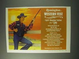 1978 Remington Western Vest Ad! - $14.99