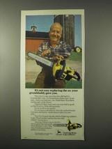 1979 John Deere Chain Saw Ad - Replacing The Ax - $14.99