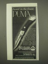 1979 Puma 200 Series Knife Ad - Invest in the Finest - $14.99