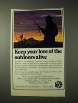 1977 National Rifle Association NRA Ad - Love Outdoors - $14.99