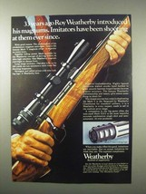 1979 Weatherby Rifles Ad - 33 Years Ago Introduced - $14.99