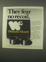 1979 Weaver Mounts Ad - They Fear No Recoil - $14.99
