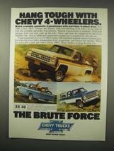 1980 Chevy Trucks Ad - Stepside Sport, LUV 4WD, Blazer - $14.99
