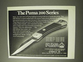 1977 Puma 200 Series Knife Ad - $14.99