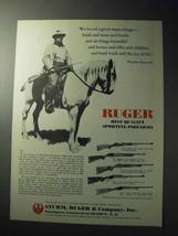 1977 Ruger Ad - M-77, 10/22, No. 1, No.3 - $14.99