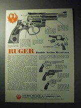 1977 Ruger Double Action Revolvers Ad - $14.99