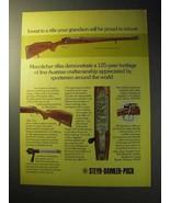 1977 Steyr Mannlicher Schonauer Model L/M Rifle Ad - $14.99
