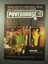 1980 Kohler Generators Ad - Power Independence - $14.99