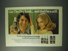 1978 Gillette The Dry Look Hair Spray Ad - $14.99