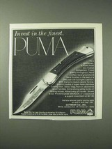 1978 Puma #16-970 Game Warden Knife Ad - Invest - $14.99