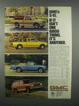 1982 GMC S-15 Truck Ad - Pickup and Jimmy - $14.99
