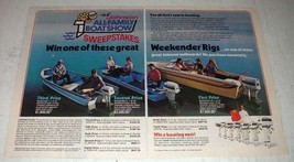 1982 Johnson Outboard Motors Ad - Weekender Rigs - $14.99