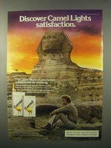 1980 Camel Lights Cigarettes Ad - Discover Camel Lights Satisfaction - $14.99