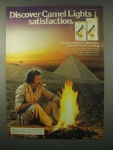 1980 Camel Lights Cigarettes Ad - Satisfcation - $14.99