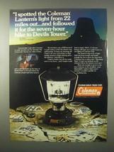 1980 Coleman 275 Lantern Ad - Devils Tower - $14.99