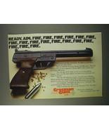 1980 Crosman Model 454 BB-Matic Pistol Ad - Fire - $14.99