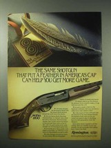 1983 Remington Model 1100 Shotgun Ad - Feather in Cap - $14.99