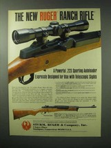 1983 Ruger Ranch Rifle Ad - Designed Telescopic Sights - $14.99