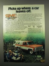 1980 GMC Pickup Truck Ad - Where a Car Leaves Off - $14.99