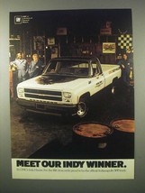 1980 GMC Indy Hauler Truck Ad - Our Indy Winner - $14.99