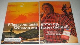 1980 Winston Cigarettes Ad - When Taste Grows Up - $14.99