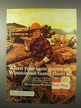 1980 Winston Cigarettes Ad - Your Taste Grows Up - $14.99
