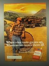 1980 Winston Cigarettes Ad - Taste Grows Up - $14.99