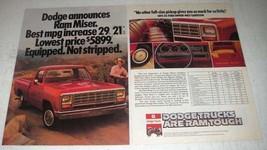 1981 Dodge Ram Miser Truck Ad - Walt Garrison - $14.99