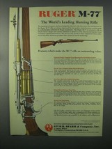 1982 Ruger M-77 Ad - World's Leading Hunting Rifle - $14.99