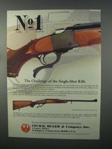 1982 Ruger No. 1 Rifle Ad - Challenge of Single-Shot - $14.99