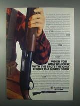 1982 Smith & Wesson Model 3000 Shotgun Ad - Facts - $14.99