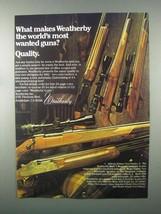 1982 Weatherby Ad - Athena, Mark V, Eighty-Two Shotgun - $14.99