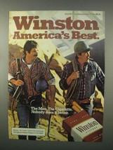 1982 Winston Cigarettes Ad - America's Best - NICE - $14.99