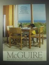 1985 McGuire Furniture Ad - $14.99