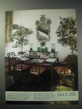 1985 McGuire Furniture Ad - NICE - $14.99