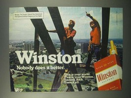 1982 Winston Cigarettes Ad - Nobody Does Better - $14.99