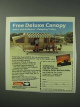 1983 Coleman Camping Trailer Ad - Deluxe Canopy - $14.99