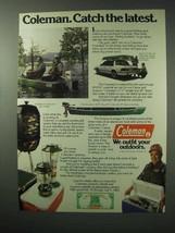 1983 Coleman Ad - Scanoe, Smoker-Grill, Lanterns - $14.99