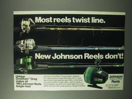 1983 Johnson DriveTrain Drag System Fishing Reels Ad - $14.99
