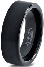 Tungsten Wedding Band Ring 7mm for Men Women Co... - $27.77