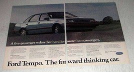 1986 Ford Tempo Car Ad - The Forward Thinking Car - $14.99