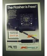 1986 Kmart Humminbird Super Sixty WPS-60 Flasher Ad - $14.99