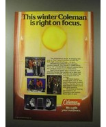 1984 Coleman Focus 5 and Focus 10 Heaters Ad - $14.99