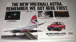 1984 GM Vauxhall Astra GTE Car Ad - We Got Here First - $14.99
