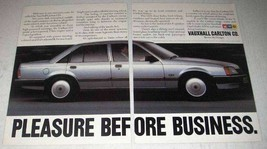 1984 GM Vauxhall Carlton CD Car Ad - Pleasure - $14.99