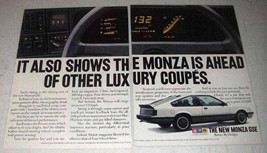 1984 GM Vauxhall Monza GSE Car Ad - Ahead of Other - $14.99