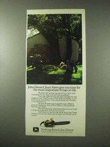 1984 John Deere Chain Saws Ad - More Important Things - $14.99