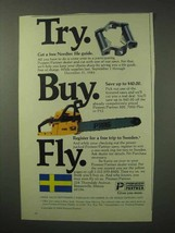 1984 Pioneer / Partner Chain Saw Ad - Try Buy Fly - $14.99