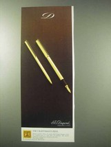 1984 S.T. Dupont Pen Ad - The Craftsman's Pens - $14.99
