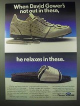 1984 Scholl Fitness Sandale Ad - David Gower - $14.99
